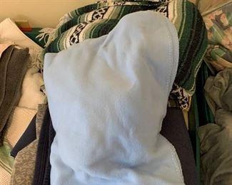 Bin of blankets