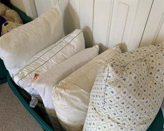 Bin of pillows