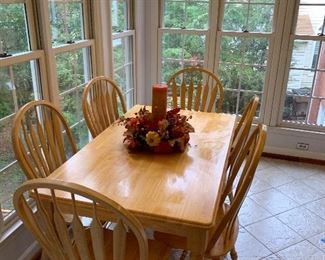 Lovely view of the breakfast nook