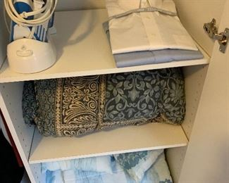 Bed spreads, iron, Brooks Brothers shirts, 17 and a half