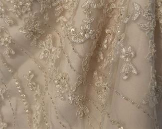 Detail of wedding gown