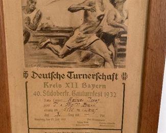 1932 Sports Award from Germany