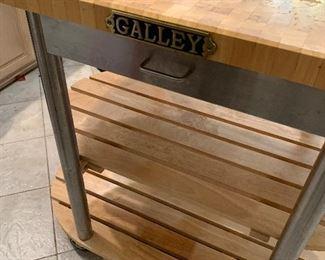 """""""Galley"""" kitchen island on wheels"""