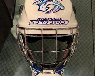 Nashville Predators helmet, signed