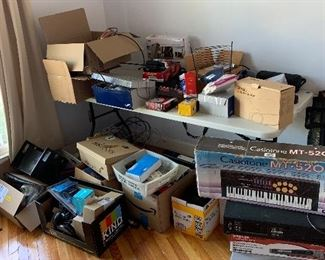 Boxes of technology pieces