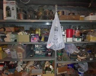 Electrical, antique lamps, nails, screws, etc.