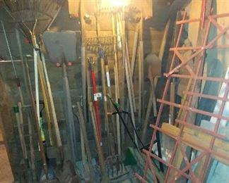 Shovels, rakes, pick axes