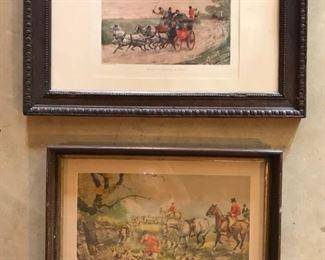 Framed Hunting Scene Prints