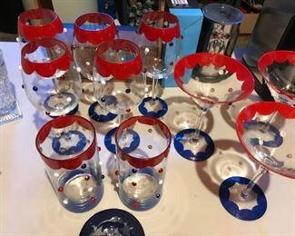 Red, White & Blue Glasses