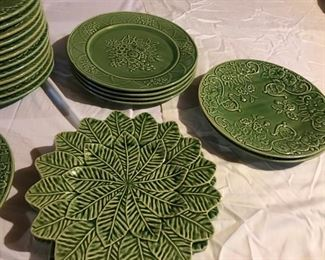 Bordallo Pinheiro Green Plates