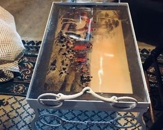 Horse Hunting Scene Removal Tray
