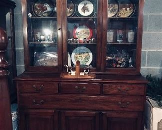Henkle Harris China Cabinet  2 pc. & Horse Items!!