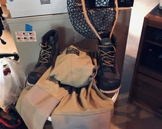 Orvis Waders (Med),  Orvis Boots (10),