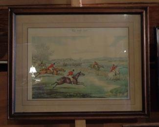 Framed Hunt Scene Picture