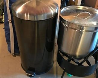 Stainless Steel Trash Can, Bayou Classic Deep Fryer