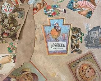 1890s-1900 Victorian lithograph and scrap album