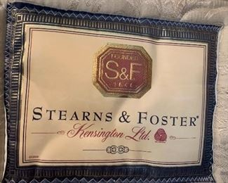 Stearns and Foster Queen mattress and box springs