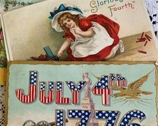 July 4th postcards