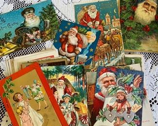 Santa and Father Christmas postcards -about 50