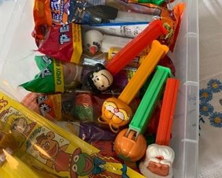 Pez dispensers, many new in package