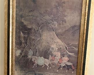 Large pair of Asian prints