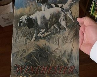 Tin reproduction Winchester sign