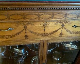 Inlaid detail of stunning buffet