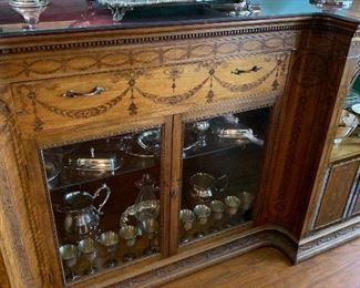 Stunning buffet, silver plate collection
