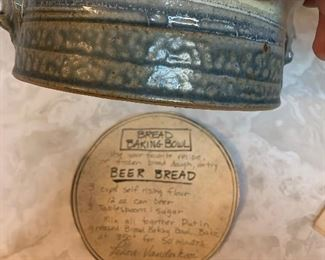 Beer Bread pottery pan