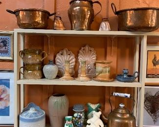 Beautiful pottery, copper and more