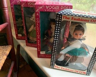 1970s Vogue Dolls, new in box