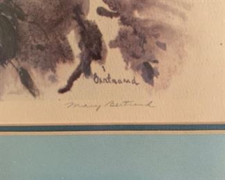 Mary Bertrand signed print, one of several