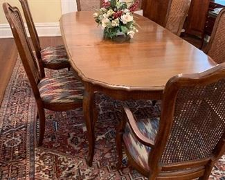 Mid-1960s dining table, rug not for sale