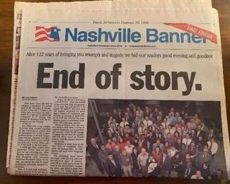 End of Banner newspaper