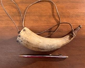 Small vintage powder horn