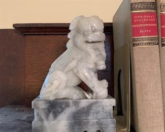 Foo soapstone dog bookends