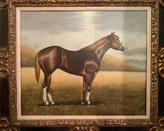 Reproduction horse painting