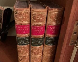 19th century works by Schiller, leather