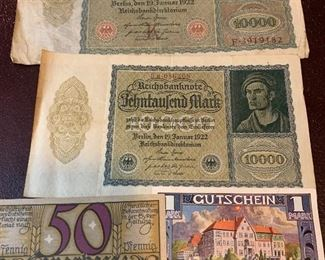 100,000 Mark notes Germany inflation money