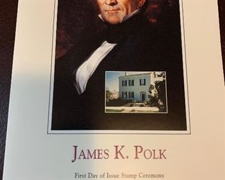 James K Polk first day cover