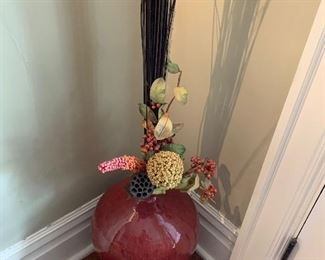 Large vase and floral display