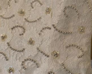 Detail of 1989 wedding gown