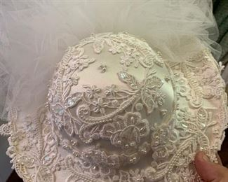 Hat matching 1989 wedding gown