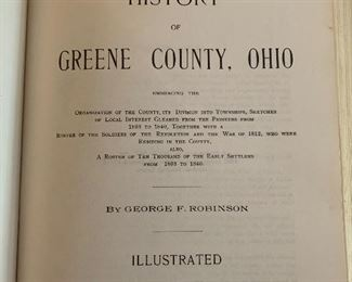 1970s reprint of 1902 green county Ohio biographical history