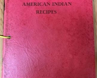 1955 Sylvester and Alice Tinker American Indian Recipes - a very special, unique cookbook with wooden covers