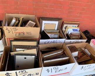 Boxes of picture frames