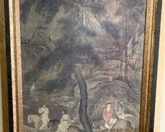 Pair of large Asian prints