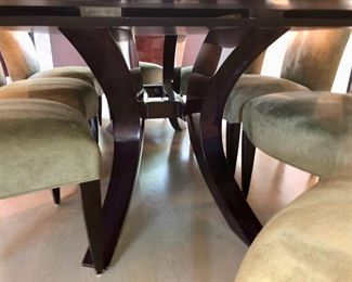 The table base has a purple tone