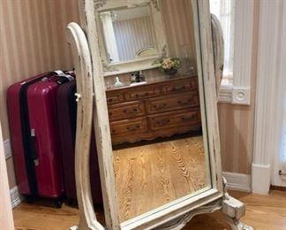 Matching standing mirror