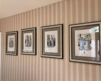 Art & wall decor , vintage fashion prints
